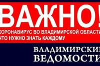 Жителям Владимирской области подготовили памятку на случай заражения коронавирусом